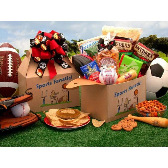 The Sports Fanatic Care Package - Fine Gifts La Bella Basket Company