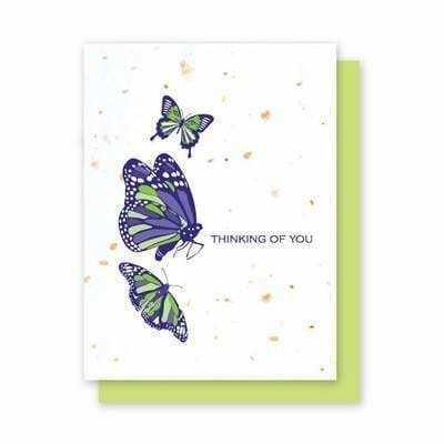 Thinking of You Butterflies Plantable Greeting Cards - 4 Pack - Fine Gifts La Bella Basket Company