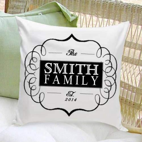 Family Throw Pillows - Fine Gifts La Bella Basket Company