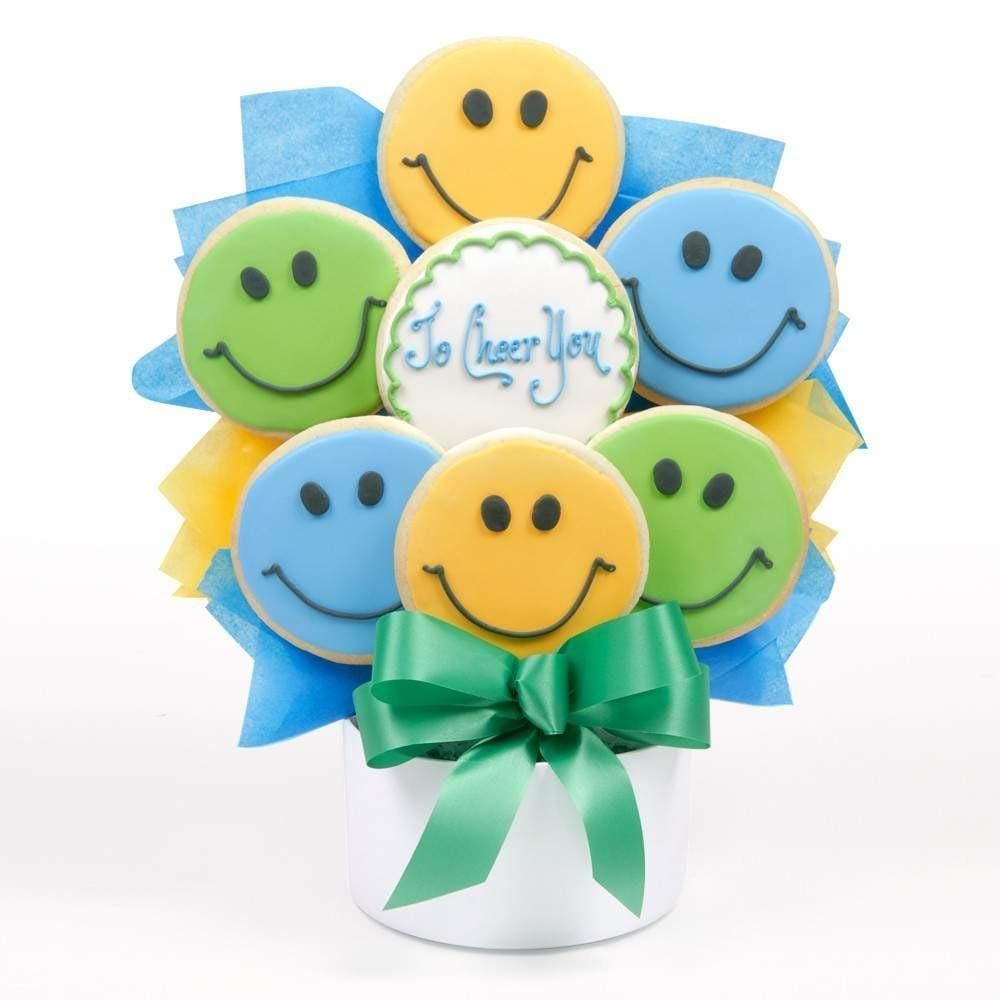 To Cheer You Cutout Cookie Bouquet - Fine Gifts La Bella Basket Company