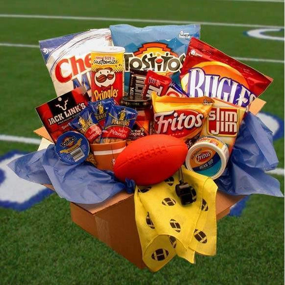 Touchdown Game Time Snacks Care Package - Fine Gifts La Bella Basket Company