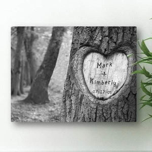 Tree of Love Canvas -Carved - Fine Gifts La Bella Basket Company