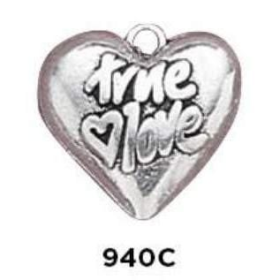True Love Heart Charm Sterling Silver - Fine Gifts La Bella Basket Company