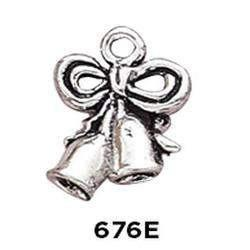 Wedding Bells Charm Sterling Silver .925 - Fine Gifts La Bella Basket Company