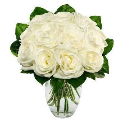 White Flower Bouquet Saturday Delivery - Fine Gifts La Bella Basket Company