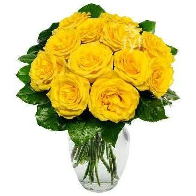 Yellow Roses Flower Bouquet Saturday Delivery - Fine Gifts La Bella Basket Company