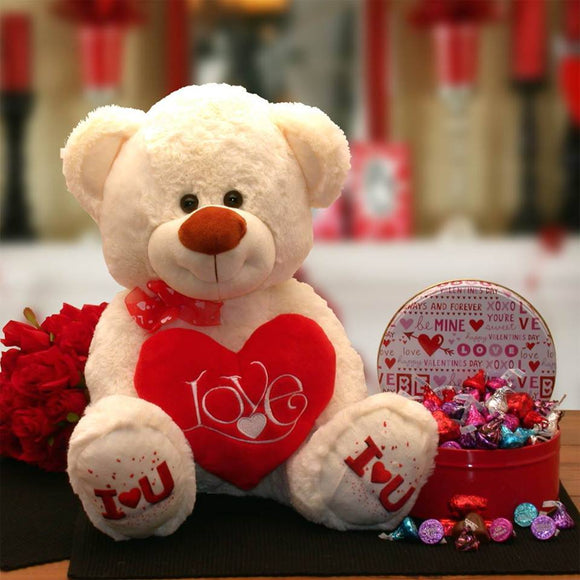 Love Hugs Bear  Show your Valentine how much you love them with our adorable plush I love you bear.