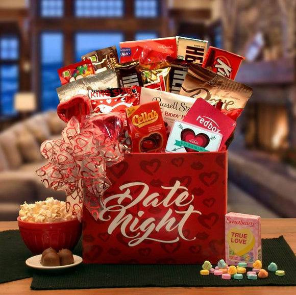 Date Night Romantic Valentine Gift Box - Fine Gifts La Bella Basket Company
