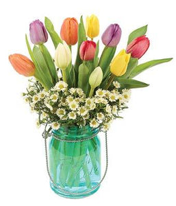 Tulip Sky Flower Bouquet - Fine Gifts La Bella Basket Company