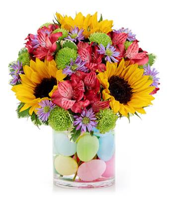 Easter Egg Flower Fields - Fine Gifts La Bella Basket Company