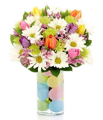 Farm Fresh Easter Egg Flower Bouquet Arrangement - Fine Gifts La Bella Basket Company