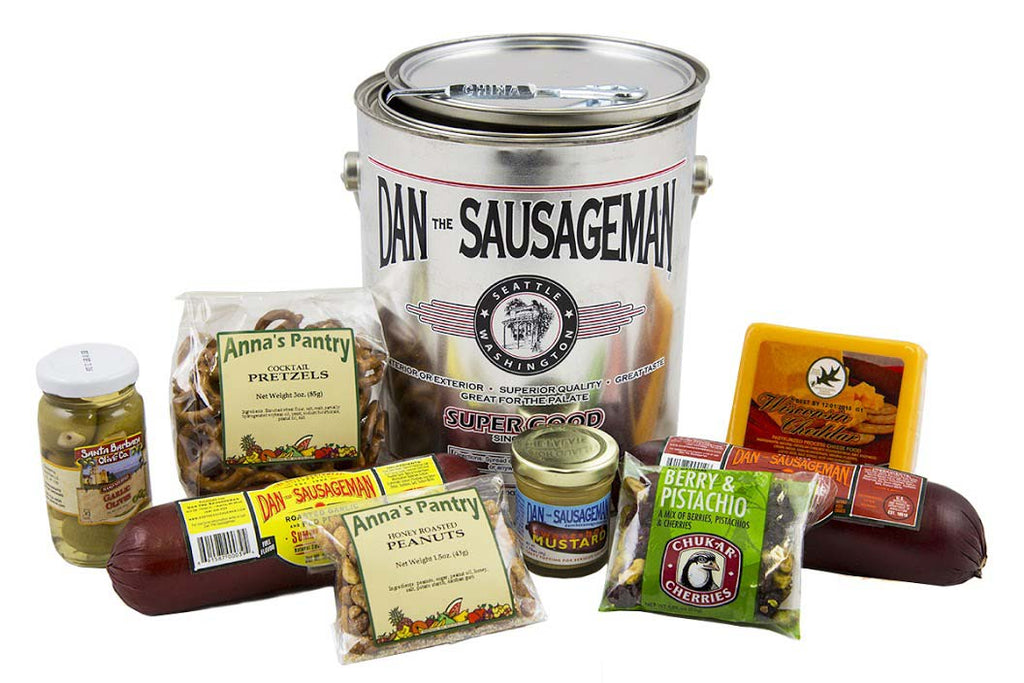 Dan's Premium Pail of Treats - Fine Gifts La Bella Basket Company