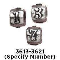 Number Charms - Fine Gifts La Bella Basket Company
