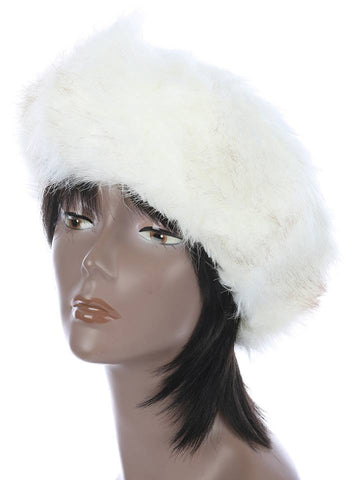 Faux Fur White Head Wrap