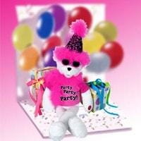 Get The Party Started Singing Bear - Fine Gifts La Bella Basket Company