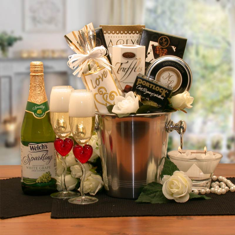 Romantic Evening Champagne Bucket - Fine Gifts La Bella Basket Company
