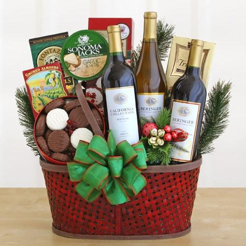 Snack Celebration Gift Basket - Fine Gifts La Bella Basket Company