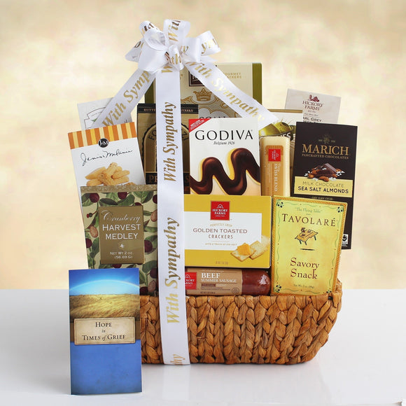Care Condolences Sympathy Gift Basket