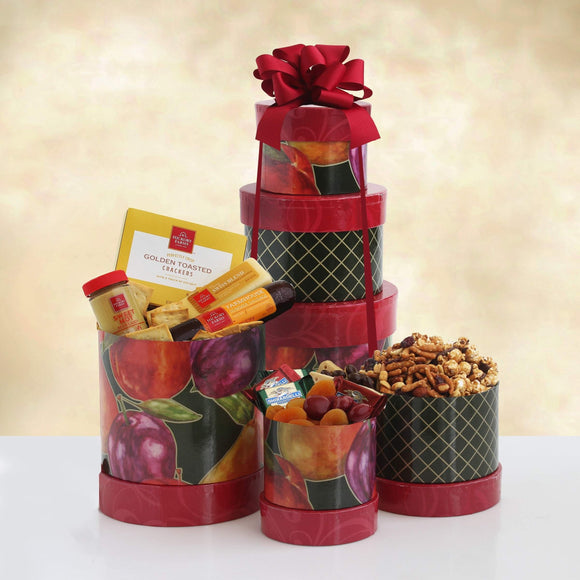 Meat, Cheese and Sweets for Mom Tower - Fine Gifts La Bella Basket Company