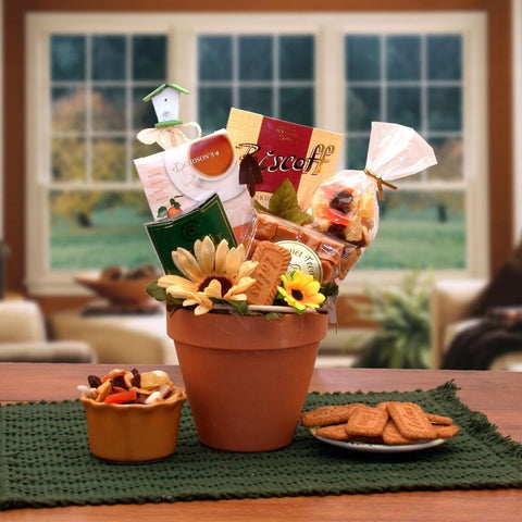 Sunflowers Gift Basket Pot - Fine Gifts La Bella Basket Company
