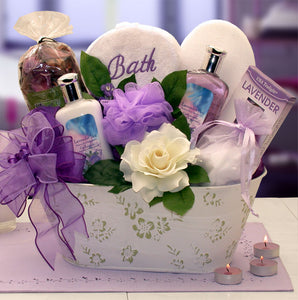 Tranquil Delights Bath and Body Gift Set - Fine Gifts La Bella Basket Company