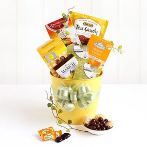 Sunshine and Sweets Spring Pail - Fine Gifts La Bella Basket Company