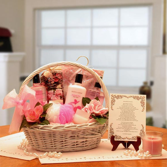 Beautiful Woman Spa Gift Basket - Fine Gifts La Bella Basket Company