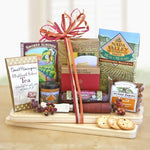 Cheeseboard Complete Gourmet With Meat & Cheese - Fine Gifts La Bella Basket Company