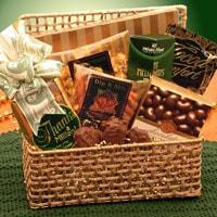 A Golden Thank You  Gift Hamper - Fine Gifts La Bella Basket Company
