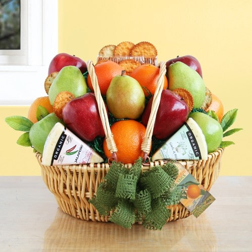 Organic Fresh Fruit Gift Basket