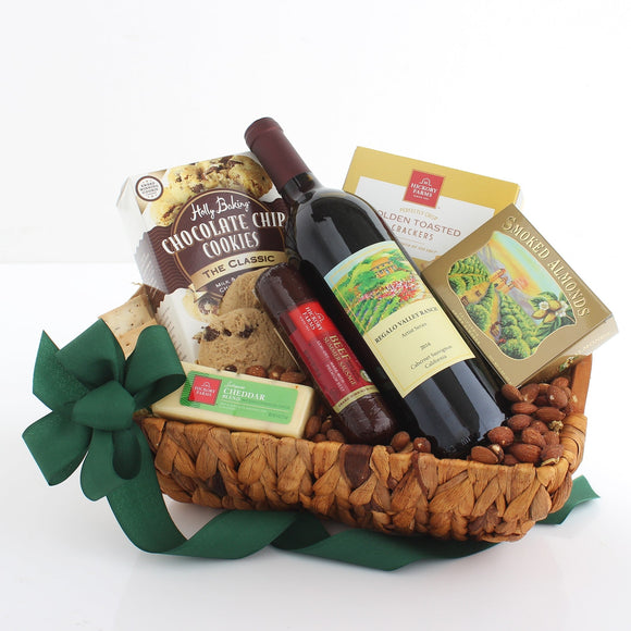 Cheers Wine Gift Basket - Fine Gifts La Bella Basket Company