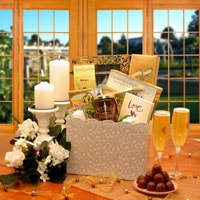 Happily Ever After Wedding Gift - Fine Gifts La Bella Basket Company