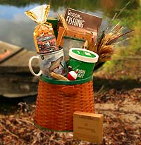Fishing Creel Gift Basket