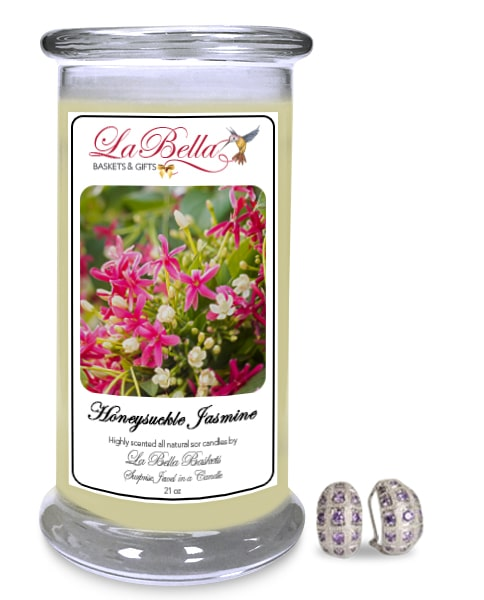 Honeysuckle Jasmin Scented Jewelry Candle