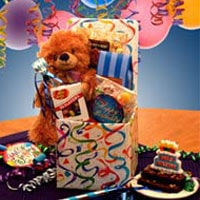 Birthday Surprise Care Package - Fine Gifts La Bella Basket Company