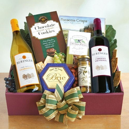 Tasting and Toasting Wine Gift Box - Fine Gifts La Bella Basket Company