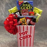Popcorn Pack Medium Gift Basket - Fine Gifts La Bella Basket Company