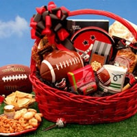 Football Fanatic Sports Gift Basket - Fine Gifts La Bella Basket Company