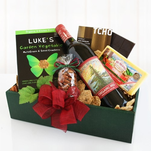 Pacific Redwood Organic Box - Fine Gifts La Bella Basket Company
