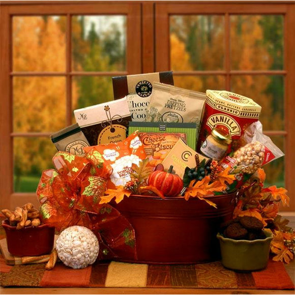 Taste of Fall Gift Basket - Fine Gifts La Bella Basket Company