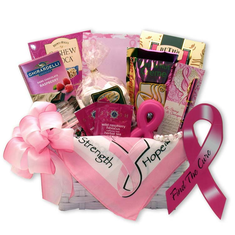 Breast Cancer Awareness Find Cure Gift Basket - Fine Gifts La Bella Basket Company