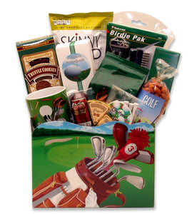Golf Delights Gift Box - LG - Fine Gifts La Bella Basket Company