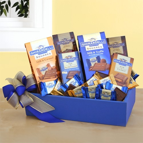 Ghirardelli Party Gift Box - Fine Gifts La Bella Basket Company