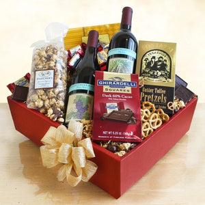 Wine Lovers Delight Gift Box - Fine Gifts La Bella Basket Company
