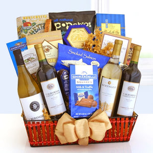 Wine Cellar Celebrations Gift Basket - Fine Gifts La Bella Basket Company