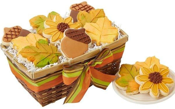 Autumn Cookie Basket - Fine Gifts La Bella Basket Company