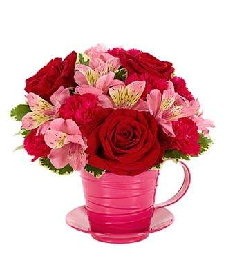 Cup of Love Flowers - Fine Gifts La Bella Basket Company