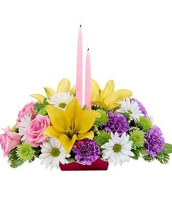 Happy Easter Centerpiece - Fine Gifts La Bella Basket Company
