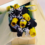 Bumble Bee Waxed Dipped Roses w/ Surprise Jewelry
