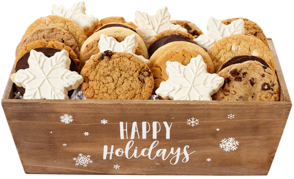 HOLIDAY WOODEN COOKIE TRAY